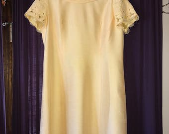 Vintage Alfred Werber Yellow Jackie-O Style Dress