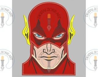 Flash Applique-Flash Portrait Head-Marvel-Super Hero-Comics- Machine Embroidery Designs - INSTANT DOWNLOAD