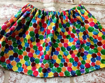 Hungry Caterpillar Skirt with optional matching bib and shoes. Available in sizes 0-3,3-6,6-9 , 9-12, 12-18, and up to 4yrs