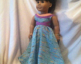 "Flowy Maxi dress for 18"" dolls"