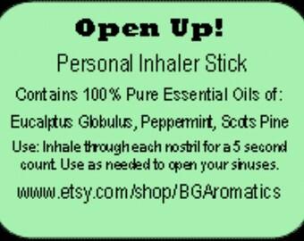 Personal Inhaler Stick, Essential Oil Inhaler, Sinus Inhaler Stick, Breath Easy Inhaler Stick, Sinus Relief, Congestion Relief