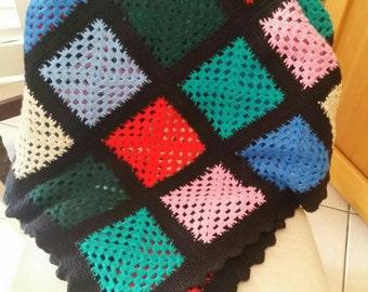 Crochet/Handmade/Wool/Throwover/Blanket