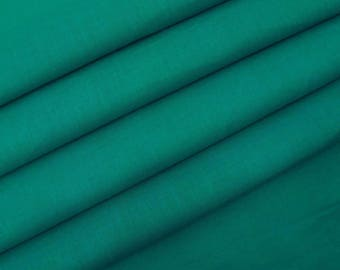 "Upholstery Fabric, Teal Green Fabric, Quilt Material, Dress Fabric, Sewing Accessories, 42"" Inch Cotton Fabric By The Yard ZBC7598K"