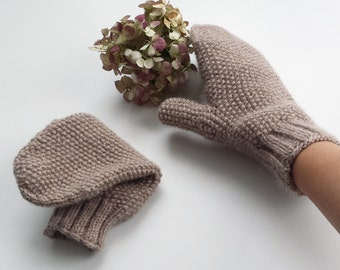 Woman mittens,alpaca and wool mittens, handknitted mittens, christmas gift, knitted mittens,winter mittens