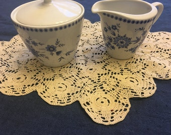 Vintage Beige Doily, 1940s Handmade Hand Crocheted Doilie Cotton Doilies Home Decor Wedding Table Scarf Bridal Shower Gift Centerpiece