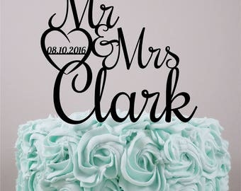 Wedding Cake Topper, Personalized Cake Topper, Custom Cake Topper, Acrylic Cake Topper, Custom wedding cake topper, Wedding.