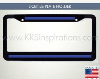 Blue Blood License Plate Holder