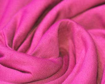 Hot Pink Jersey Cotton Lycra mix.  Knit fabric by the half meter