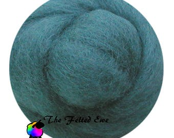Needle Felting Wool Roving / DR35 Lady of the Lake Carded Wool Roving Sliver
