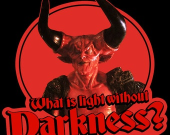 """80's Ridley Scott Classic Legend Darkness """"What Is Light Without Darkness?"""" custom tee Any Size Any Color"""