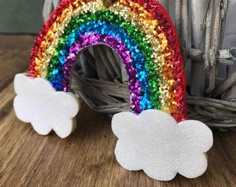 Rainbow decor, nursery decor, rainbow gift, rainbow decoration, rainbow ornament, nursery rainbow decor, rainbow with cloud, hanging rainbow