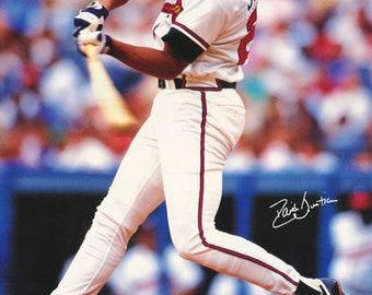 David Justice Atlanta Braves 1991  Poster