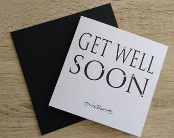 Get Well Soon Bling Card