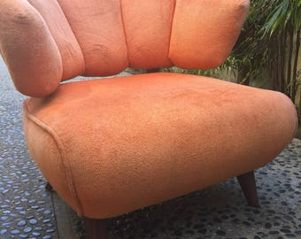 Vintage orange upholstered chair