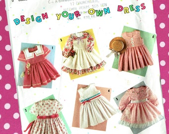 Girl Victorian Fairytale Princess Dresses Sewing Pattern Simplicity 7353 'Design Your Own Dress' Costume Party Dress-Up, Fun