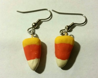 Mini Candy Corn Earrings
