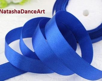 Dark Blue ribbon 1'' /25 mm/, satin ribbon, ribbon by the yard, fabric ribbon, ribbon for bows, sewing ribbon, ribbon for crafts, 3 meters