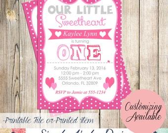 Valentine's Birthday Party Invitation