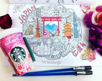 Coloring Page/Illustration JAPAN