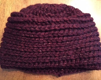 Crochet Beanie Hat - Wool Ease Thick & Quick