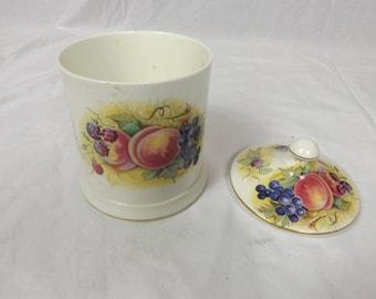 Crown Staffordshire ORCHARD GLORY Lidded Jar - English Made Bone China
