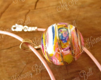 Harmony Ball Necklace/Mexican Bola Necklace/Colorful/Chime Pendant/Pregnancy Necklace/Mom to Be Necklace/Musical Chime Ball/Pregnancy Gift