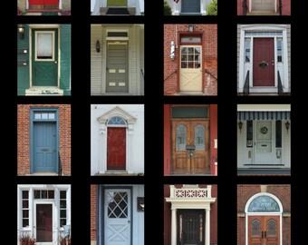 Doors of Zelienople Poster - 11 x 14in