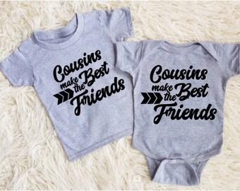 Cousins make the best friends shirt cousins onesie cousins bodysuit matching cousins boy cousins outfit nephew gifts