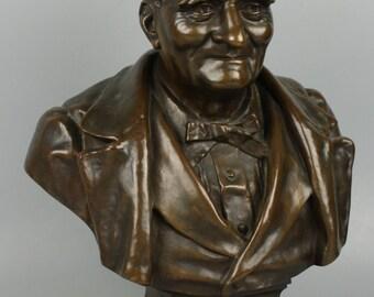 Antique 1884 french Bronze Ernest Dame (Gruet Foundry)