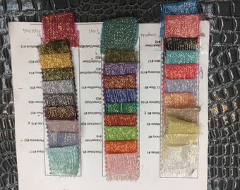 """Crinkle Silk Metallic Lame, MULTIPLE COLORS, 45"""" inch, sold by the yard"""