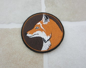 Embroidered Fox Patch Iron/Sew On