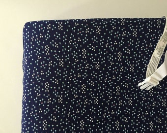 Navy blue cotton bulb changing pad cover