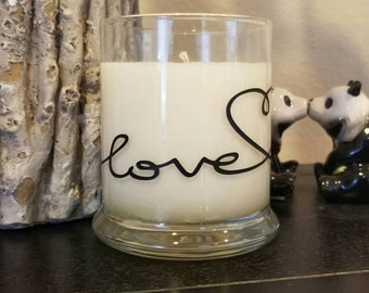 Love You Heart Soy Scented Candle