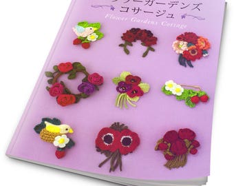 55 Flower Corsage Crochet Patterns - Japanese Craft Book - Asahi original - Crochet Motifs - Japanese crochet ebook - PDF- Instant Download