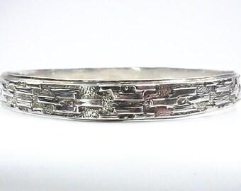 Vintage Sterling Silver, Cuff Bracelet, Hecho En Mexico, Mexican Sterling Silver Bracelet, Silver Bangle Bracelet, Gift For Mom