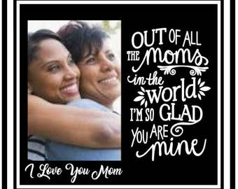 Mom frame - mom picture frame - mother daughter picture frame - mom from daughter - picture frame quote - frame for mom - personalize frame