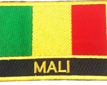 Mali Embroidered Sew or Iron on Patch Badge