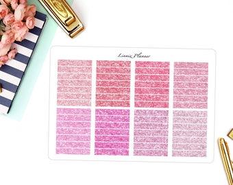 PINK Glitter Headers (Matte planner stickers, fits perfect in Erin Condren Life Planner)