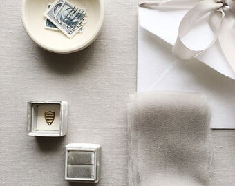 Linen Board + Silk Ribbons + Ring Box - Styling Kit for Photographers and Creatives