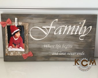 Engraved Family Sign, Hand painted, Rustic Wood Sign, Distressed Sign, Home Wall Decor, Wood Stain Sign, Beautiful Gift!