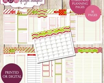 Christmas Organizer - Christmas Planner -Christmas Binder Kit - Holiday Planner - Christmas Planner Kit - Organized Holiday