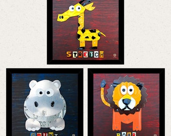 Animal Wall Art - Kids Room Decor