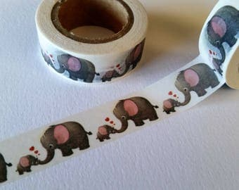 mommy and baby elephant washi tape