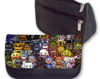 Five Nights at Freddy's Pencil case / Make up bag ( All characters)
