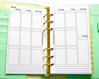 Personal Planner Inserts - Vertical Weekly Inserts - Vertical Planner Inserts - Week On Two Page Inserts - Planner Inserts
