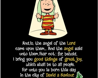 Charlie Brown Christmas Scripture - svg file