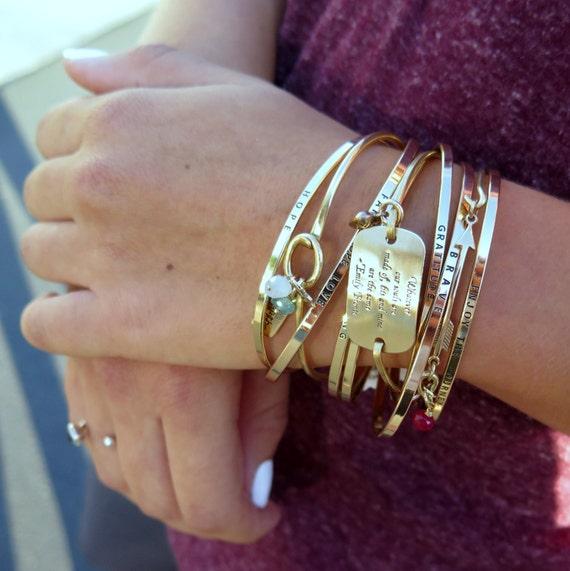 LOVE Mantra Band, Love Bracelet, Inspirational Bracelet, Gold Bracelet, Cuff Bracelet, Gift for Her