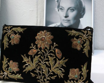 Vintage handmade embroidery pouch