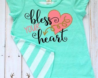 Bless Your Heart Toddler Girl Shirt- Southern Toddler Girl Shirt- Bless Your Heart Cute Shirt- Southern Girl Shirt- Toddler Girl Y'all Shirt