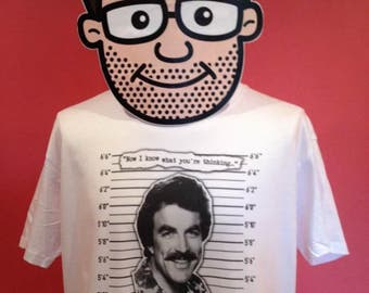 Magnum / Tom Selleck tv detectives T-Shirt - White Shirt